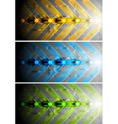 Colourful banners with arrows vector image