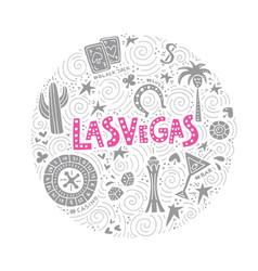 concept of las vegas vector image
