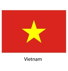 Flag of the country vietnam vector image vector image