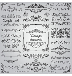 Hand Drawn Design Elements vector image