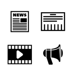 media simple related icons vector image vector image