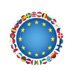 European Union sign vector image