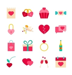 Happy Valentines Day Objects vector image