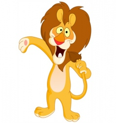 singing lion vector image vector image