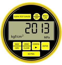 2013 New Year digital gas manometer vector image