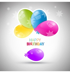Happy Birthday theme colorful air balls vector image vector image