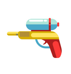 kid toy children plaything water gun icon vector image