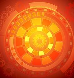 Orange Technology Background vector image vector image