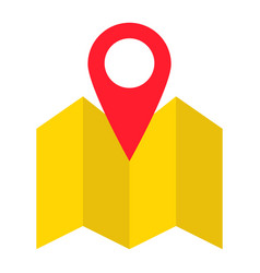 Pinpoint on map flat icon geolocation vector