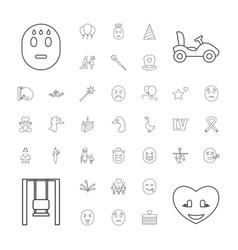 37 happy icons vector