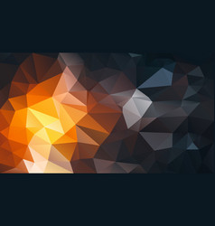 Abstract irregular polygon background orange black vector