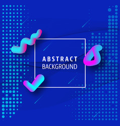 abstract waves with fluid gradient shapes design vector image