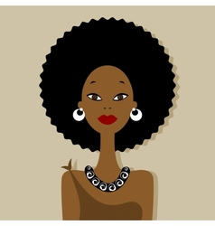 African woman portrait for your design vector image