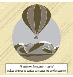 air balloon on ridges vector image
