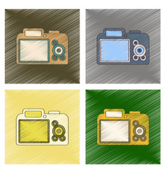 Assembly flat shading style icon camera vector