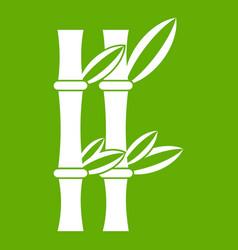 bamboo icon green vector image