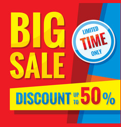 big sale - concept banner vector image