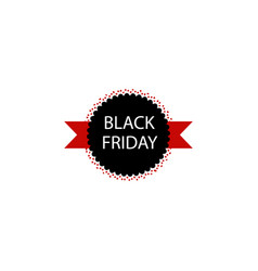 black friday sale sticker multicolored icon vector image