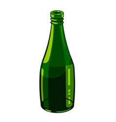 bottle of green glass vector image