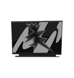 Broken tv damaged electronic device cartoon vector
