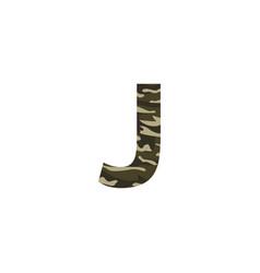 camouflage logo letter j vector image