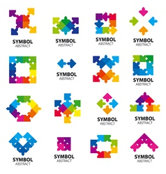 Collection logos abstract modules vector