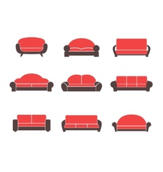Comfortable sofas and couches vector image