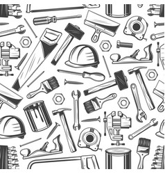 construction and building pattern carpentry tools vector image