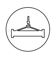 Crane weight lifting service vector