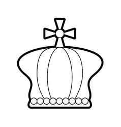 Crown pope catholic emblem icon vector