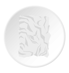 Crumpled paper icon flat style vector