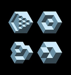 Cubic objects vector image