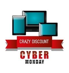 Cyber Monday shopping season vector