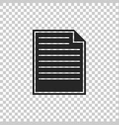document icon isolated checklist icon vector image