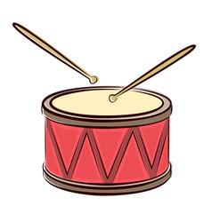 Drum with sticks vector