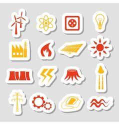 Energy stickers vector