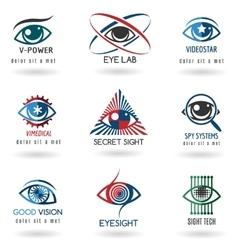 Eye logo set vector