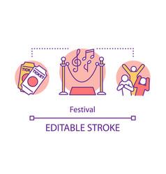 festival concept icon music event idea thin line vector image