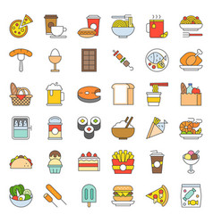 food and drink icon gastronomy concept filled vector image