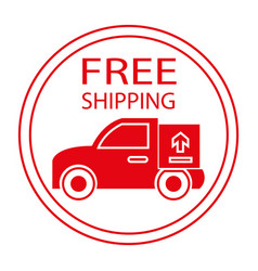 Free shipping label vector