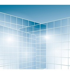 Glass walls of buildings - windows vector