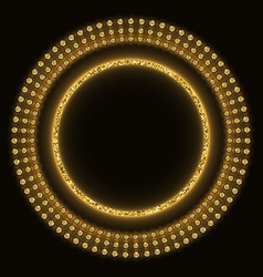 golden glittering round marquee vector image