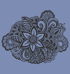 Hand drawn Flower ornament Doodle style vector