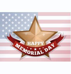 happy memorial day concept vector image