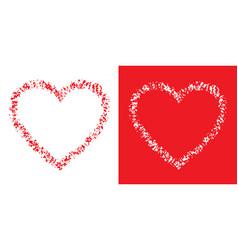 heart grunge frame valentines day card vector image