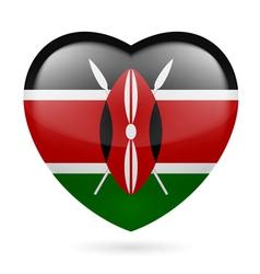 Heart icon of Kenya vector