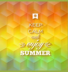 Hipster summer background vector