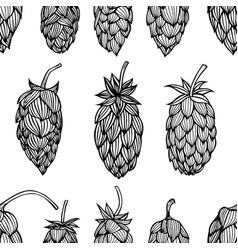 Hop beer seamless pattern vector