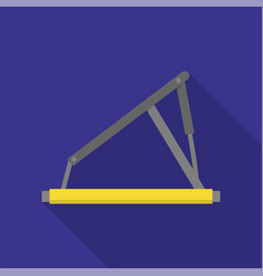 hydraulic lift icon flat style vector image