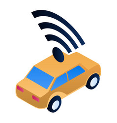 intelligent car icon isometric style vector image